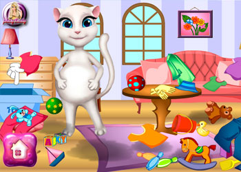 Play Pregnant Angela Room Cleaning online - Screenshot 1