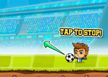 Play Puppet soccer challenge online - Screenshot 1