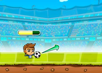 Play Puppet soccer challenge online - Screenshot 2