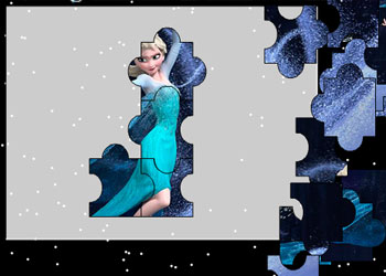 Play Puzzle: Elsa Frozen online - Screenshot 2