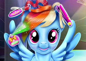 Play Rainbow Pony Real Haircuts online - Screenshot 1