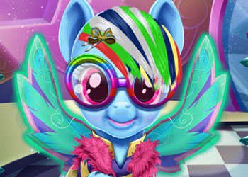 Play Rainbow Pony Real Haircuts online - Screenshot 2