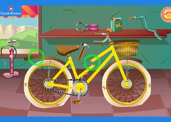 Play Rapunzel Repair Bicycle online - Screenshot 1