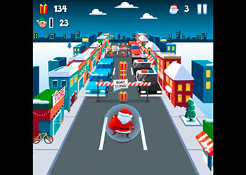 Play Santa City Run online - Screenshot 1