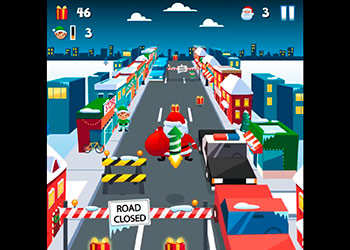 Play Santa City Run online - Screenshot 2