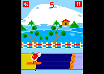 Play Santa Ski online - Screenshot 1