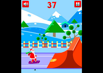 Play Santa Ski online - Screenshot 2