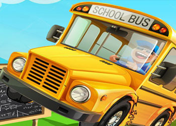 Play School Bus Parking Frenzy online - Screenshot 1