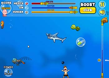 Play Shark Attack online - Screenshot 1