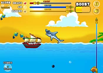 Play Shark Attack online - Screenshot 2