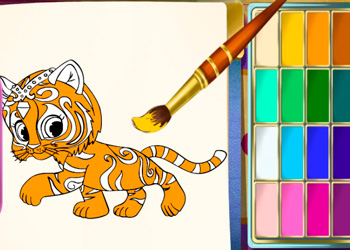 Play Shimmer and Shine Coloring Book online - Screenshot 2