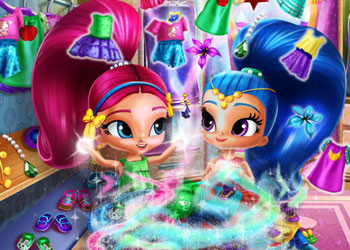 Play Shimmer And Shine Wardrobe Cleaning online - Screenshot 1