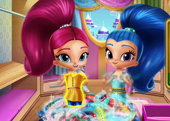 Play Shimmer And Shine Wardrobe Cleaning online - Screenshot 2
