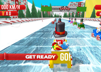 Play Snowman Christmas Racing online - Screenshot 1