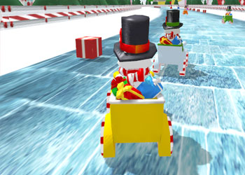 Play Snowman Christmas Racing online - Screenshot 2