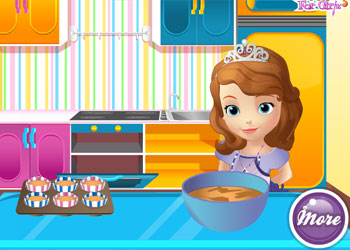 Play Sofia Cooking Muffins online - Screenshot 2