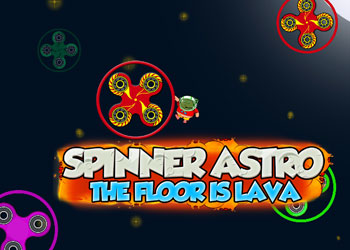 Play Spinner Astro the Floor is Lava online - Screenshot 1