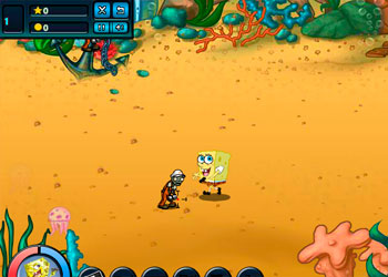 Play Spongebob VS Zombies online - Screenshot 1