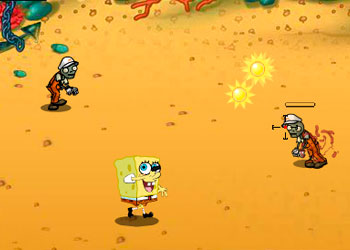 Play Spongebob VS Zombies online - Screenshot 2