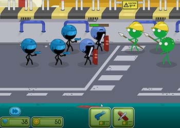 Play Stickman vs Zombies online - Screenshot 1