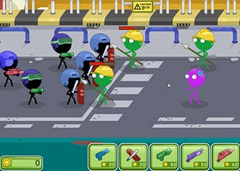 Play Stickman vs Zombies online - Screenshot 2