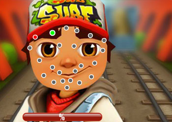 Play Subway Surfers Face Tattoo online - Screenshot 1