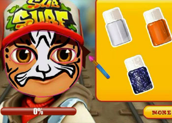 Play Subway Surfers Face Tattoo online - Screenshot 2