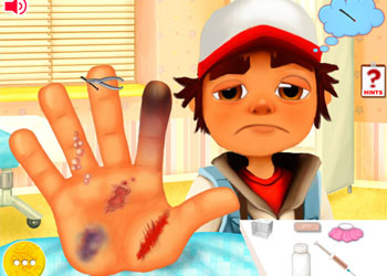 Play Subway Surfers Hand Doctor online - Screenshot 1