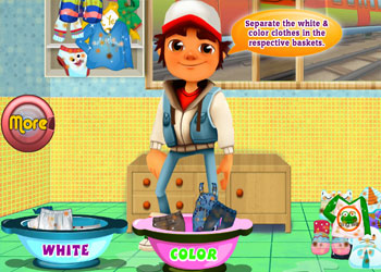 Play Subway Surfers Washing Clothes online - Screenshot 2