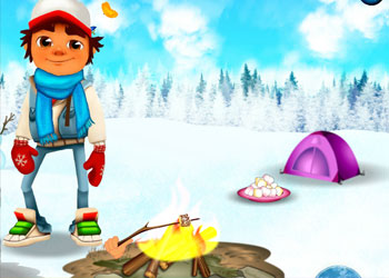 Play Subway Surfers Winter Adventure online - Screenshot 2