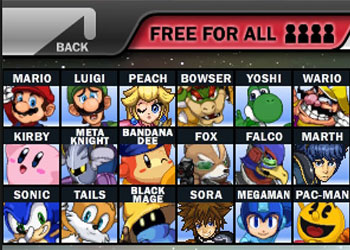 Play Super Smash Flash 2 game online - Screenshot 1