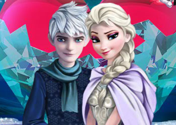 Play Sweet Kissing Elsa And Jack Frost online - Screenshot 2