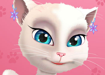Play Talking Angela Great Manicure online - Screenshot 1
