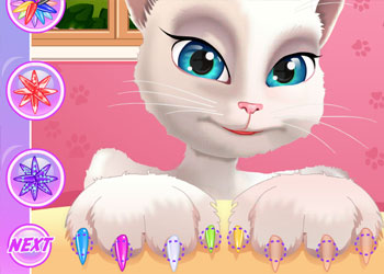 Play Talking Angela Great Manicure online - Screenshot 2