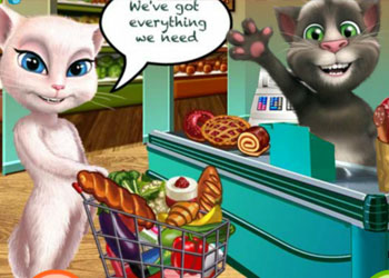 Play Talking Angela Great Shopping online - Screenshot 2