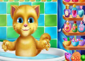 Play Talking Baby Ginger Bath online - Screenshot 2