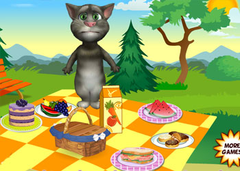 Play Talking Tom Picnic online - Screenshot 2