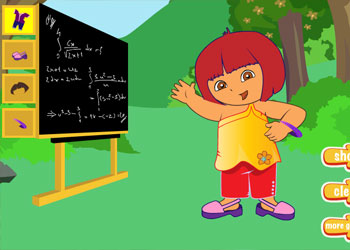 Play Teacher Dora Dress Up online - Screenshot 1