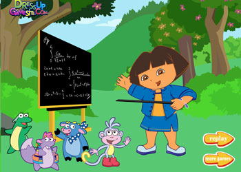 Play Teacher Dora Dress Up online - Screenshot 2