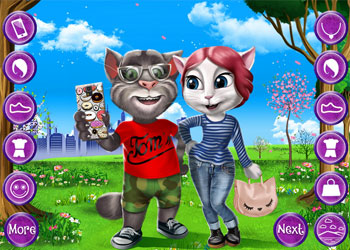 Play Tom and Angela Selfie Time online - Screenshot 1