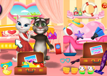 Play Tom And Angela Summer Luggage online - Screenshot 1