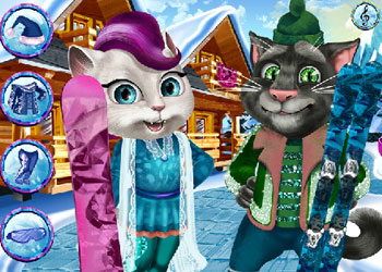 Play Tom And Angela Winter Holiday online - Screenshot 2