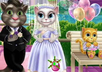 Play Tom & Angela Wedding Kiss online - Screenshot 2