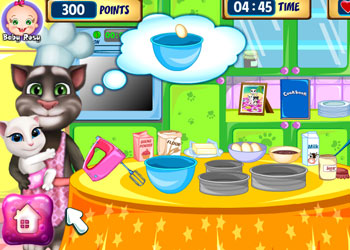 Play Tom Family Cooking Cake online - Screenshot 1