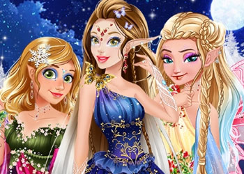 Play Winter Fairies Princesses online - Screenshot 1