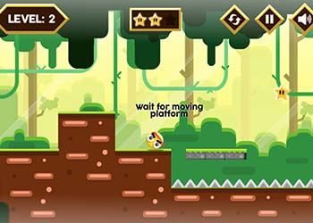 Play Yellow Ball Adventure online - Screenshot 1