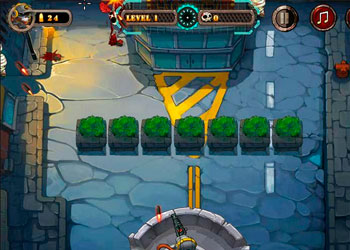 Play Zombie Bullet Fly online - Screenshot 1