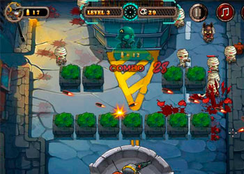 Play Zombie Bullet Fly online - Screenshot 2