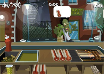 Play Zombie Burger online - Screenshot 1