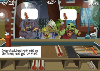 Play Zombie Burger online - Screenshot 2
